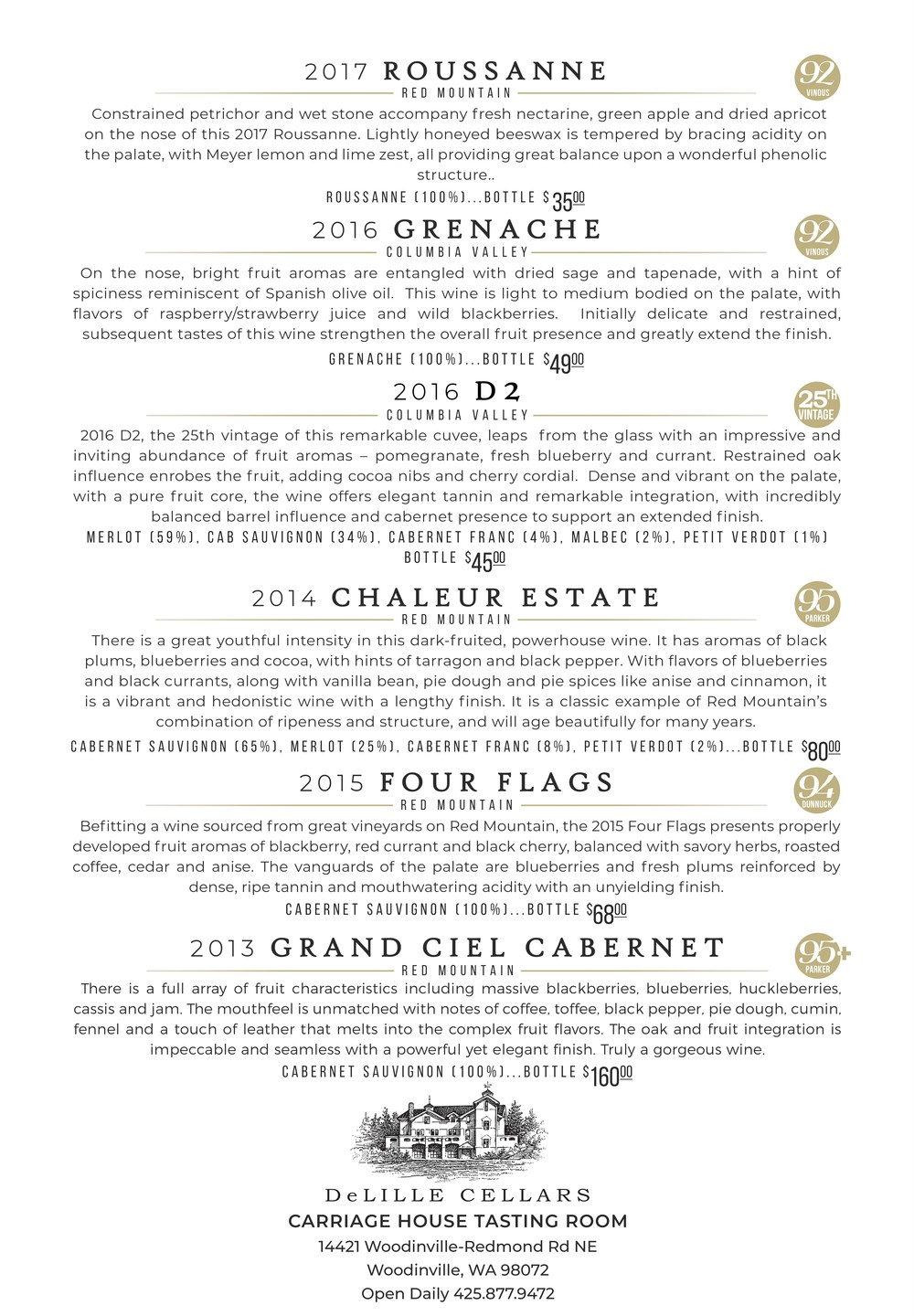 Wine Club Menu January 2019