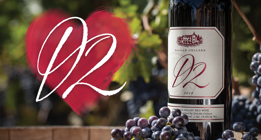 DeLille Cellars D2 Heart Label for Nonprofit and Charitable Giving