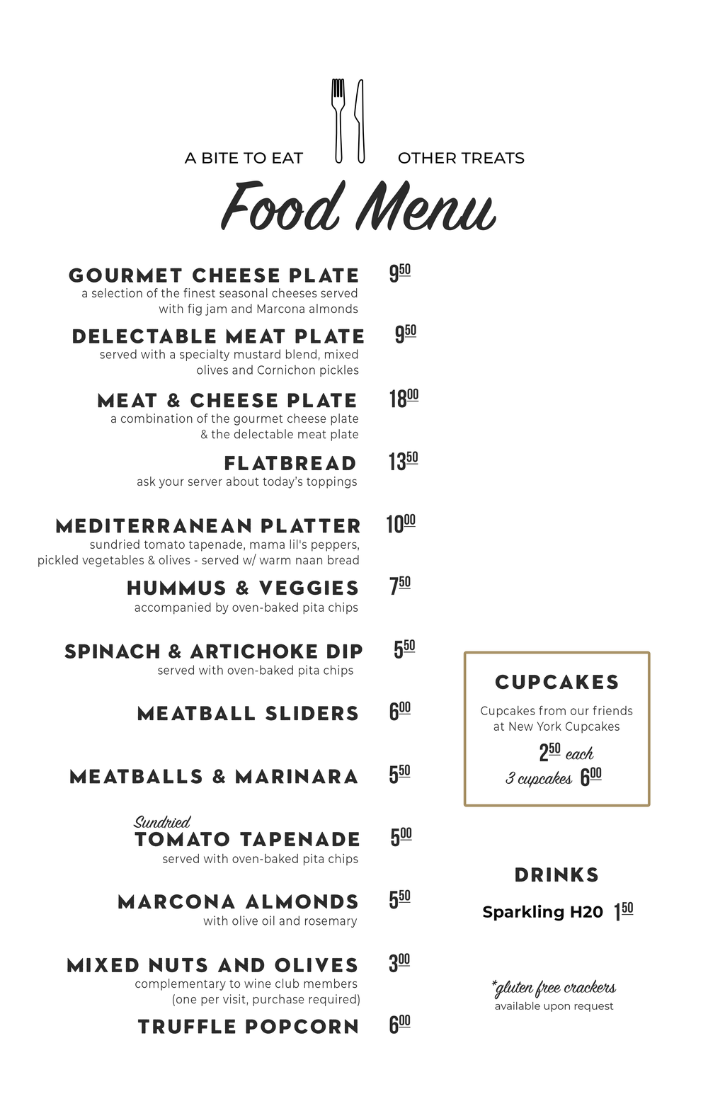 Maison DeLille Food Menu! Starting 8/13/2019