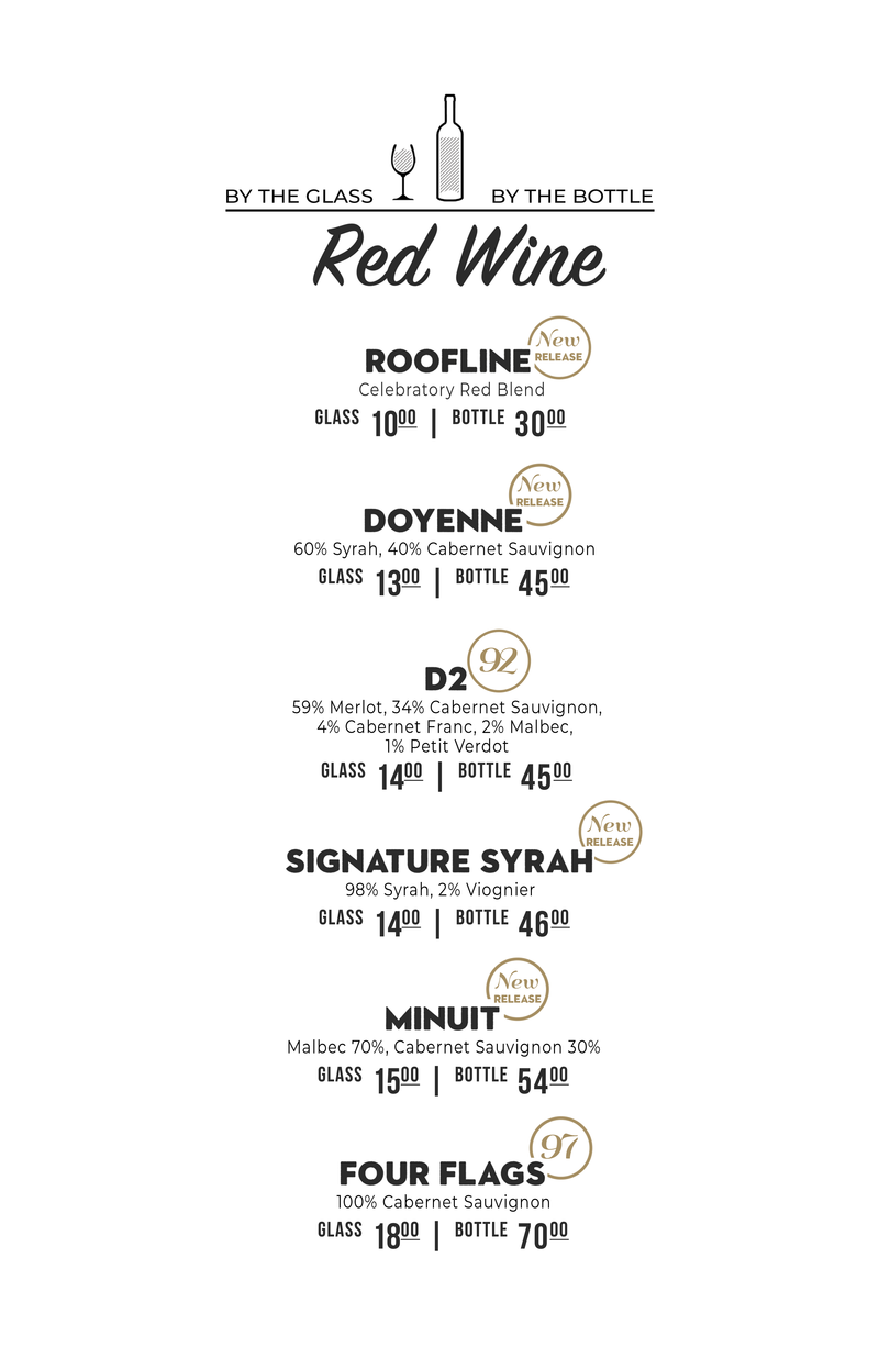 Red Wine Menu