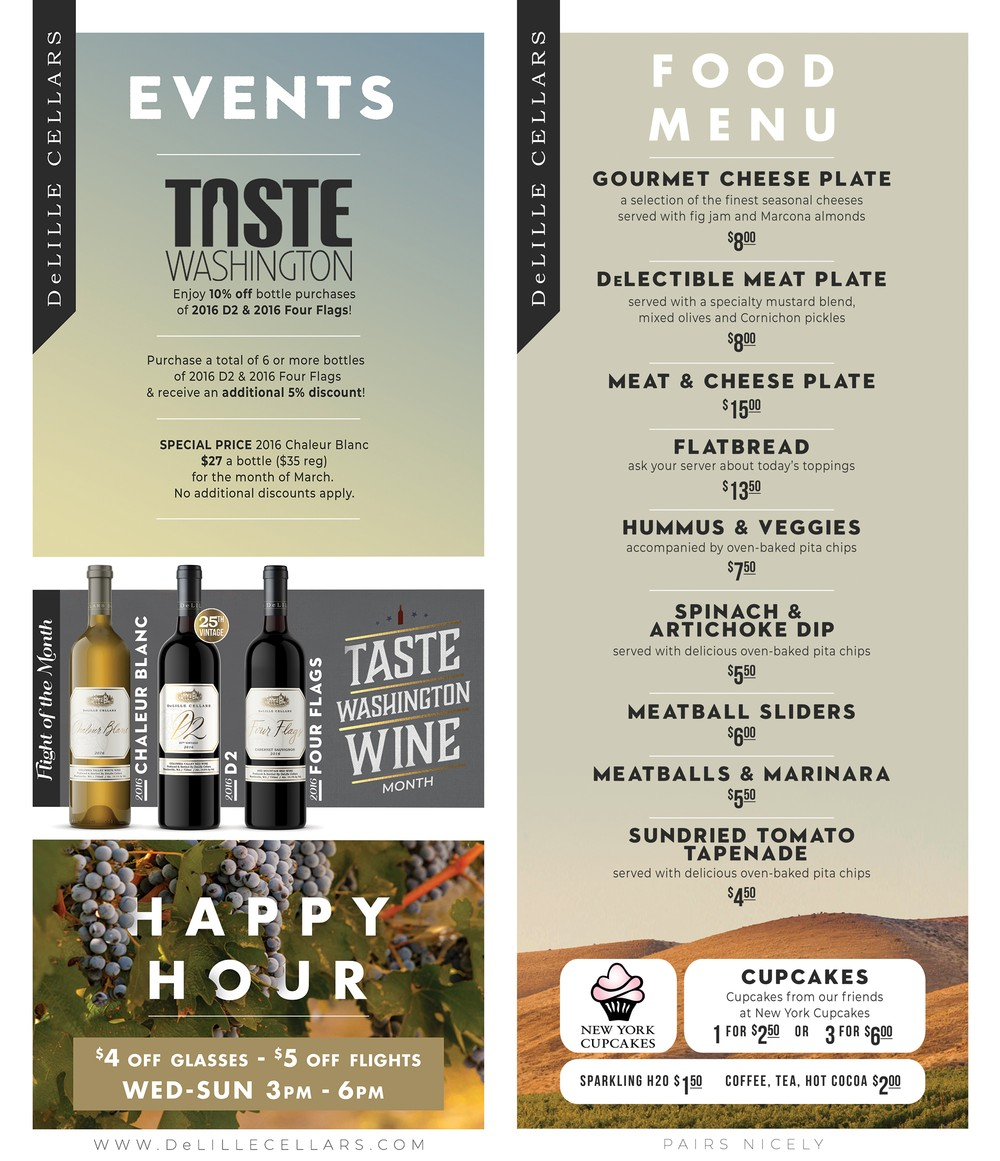 Maison Food Menu and Events!