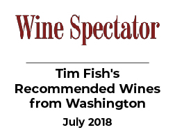 2015 Signature Syrah Selected for Tim Fish's Recommended Wines from Washington