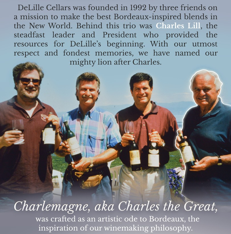 DeLille Cellars was founded by Chris Upchurch, Jay Soloff, Greg Lill and Charles Lill.