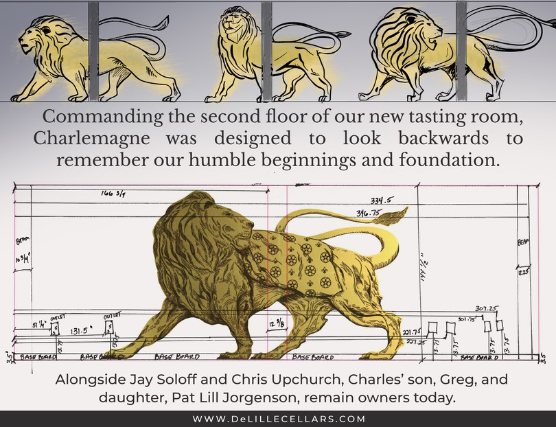 Bordeaux Lion named after DeLille Founder Charles Lill.