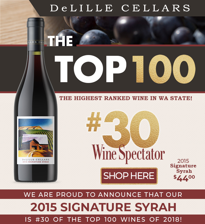 🍷💯 2015 Signature Syrah at #30 of the Top 100- Wine Spectator!!