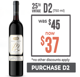 Save on D2 Red Wine - $37 per bottle