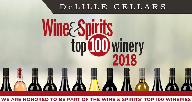 💯🏆 DeLille Cellars 1 of 3 WA Wineries on the International Top 100!