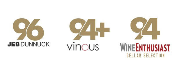 96 Points Jeb Dunnuck, 94+ Points Vinous,  94 Points Wine Enthusiast Cellar Selection
