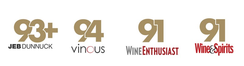 93+ Points Jeb Dunnuck, 94 Points Vinous, 91 Points Wine Enthusiast, 91 Points Wine & Spirits