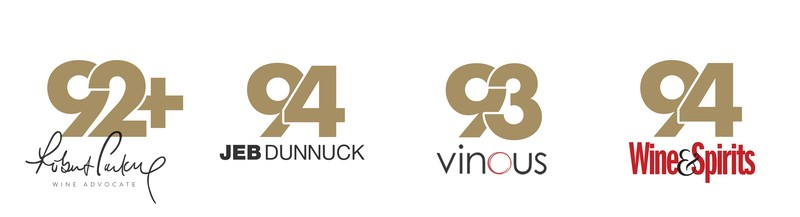 92+ Points Robert Parker, 94 Points Jeb Dunnuck, 93 Points Vinous, 94 Points Wine & Spirits