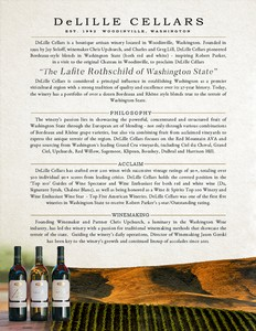 DeLille Cellars One-Page Brand Sheet
