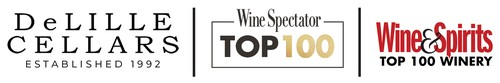 DeLille Cellars Top 100 Winery, Top 100 Wines Logo
