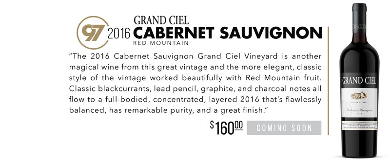 2016 Grand Ciel Cabernet scores 97 Points!