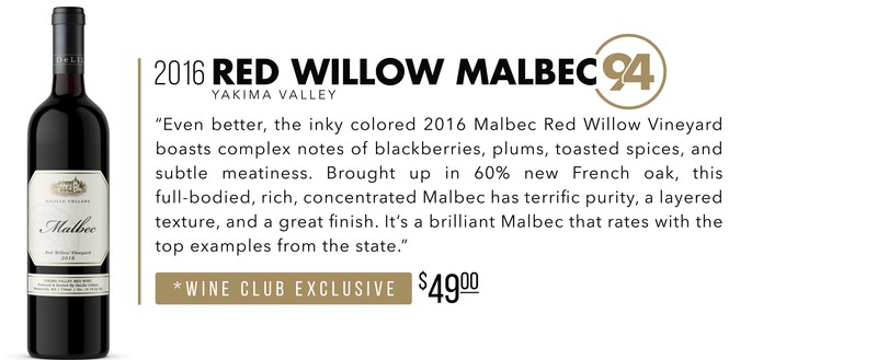 2016 Red Willow Malbe scores 94 Points!