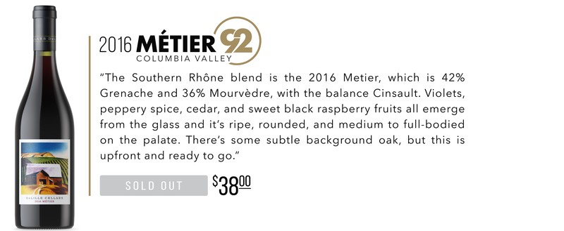 2016 Métier scores 92 Points!