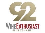 92 Points Wine Enthusiast Editors' Choice