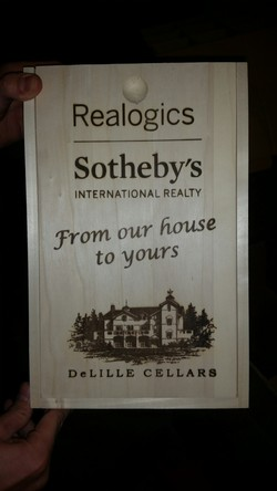 Realogics Sotheby's Wood Box